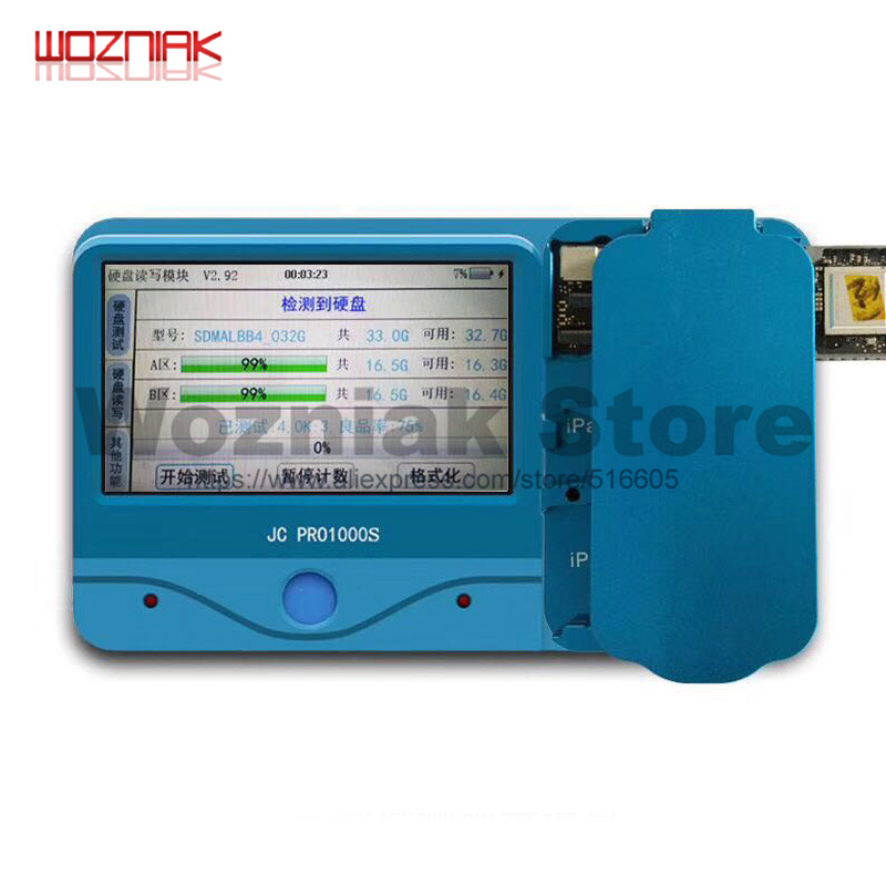 Wozniak JC PRO1000S Non Removal NAND Programmer Read Write iCloud Repair Tool For iPad 2 3