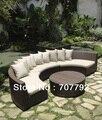 Nuevo diseño de ratán sintético muebles del patio
