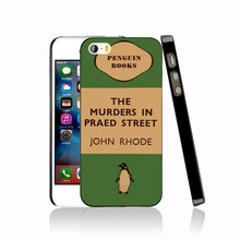 07154 penguin murders praed street Cover cell phone Case for iPhone 4 4S 5 5S SE 5C 6 6S 7 Plus