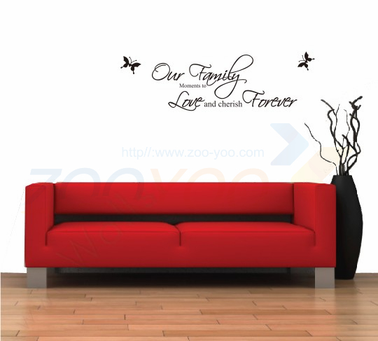 our family moments to love and cherish forever quote decal ZOOYOO8013 decorative adesivo de parede removable vinyl wall sticker