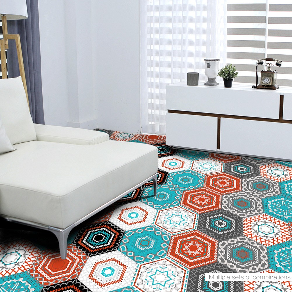 wholesale self adhesive tile art floor wall decal sticker. Black Bedroom Furniture Sets. Home Design Ideas