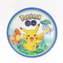 Pokemon Style Paper Plates