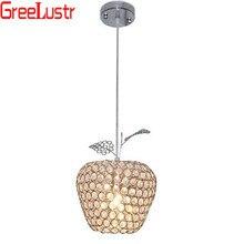 Современные Apple из нержавеющей стали светодиодные лампы Хрустальные подвесные светильники лампы led блестящая люстра с украшением в виде кристаллов подвесные лампы для ресторана