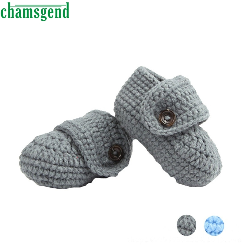 CHAMSGEND baby shoes moccasins cute winter autumn Crib Crochet Casual Handmade Knit Sock Infant Shoes Jan7 S40