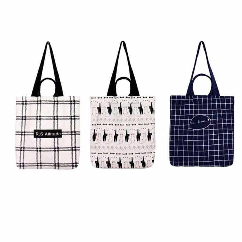 29e032013a35 Новый Для женщин Холст сумки досуга дамы Школьная Сумка Большой Ёмкость  Хозяйственные сумки повседневная Пляжная Сумка Bolso Mujer дропшиппинг