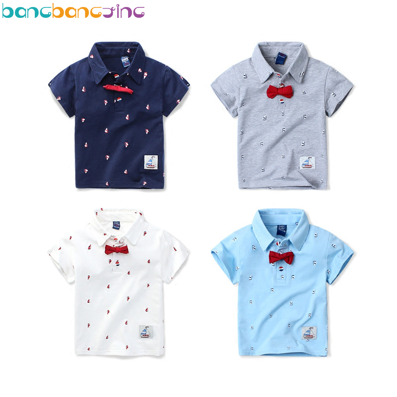 Kids boys polo shirt baby boy girl cotton clothes summer for Toddler boys polo shirts