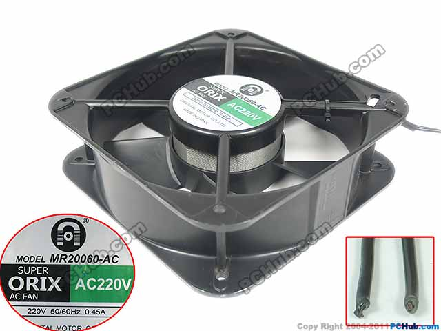 Emacro For ORIX MR20060-AC AC 220V 50/50Hz 2-Wire 200x200x60mm Server Square Fan emacro for comair rotron pt2b3qdn server round fan ac 115v 30w 172x172x51mm