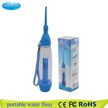 Novo portátil irrigador oral limpar a boca lavar o seu dente água manual de irrigação água dental flosser sem eletricidade abs
