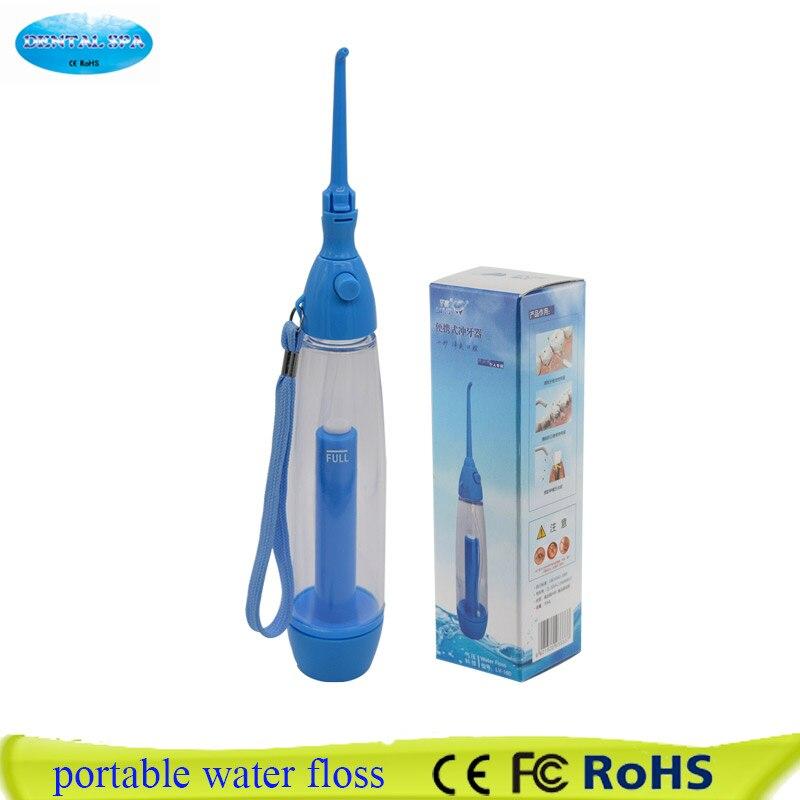 Nuevo irrigador Oral portátil limpiar la boca lavar el diente agua riego manual agua hilo dental no electricidad ABS