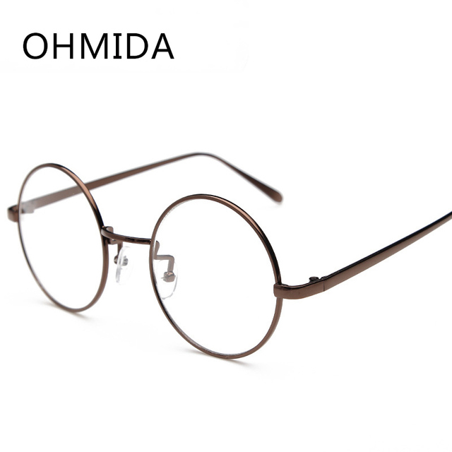 Aliexpress.com : Buy OHMIDA Vintage Round Glasses Frames Myopia ...