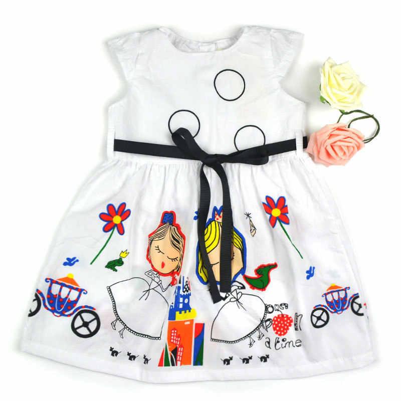 Высококачественное платье для подростков одежда для больших девочек новое милое платье с цветочным принтом и круглым вырезом платья принцессы с бантом и поясом для девочек