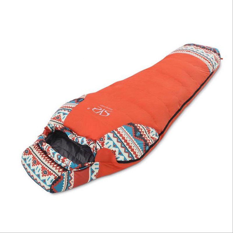 2017 New Blue Orange Outdoor Wing Mummy Sleeping Bag Ultralight White Goose Down Outdoor Camping Hiking Accessory Hotsale Online otomatik çadır