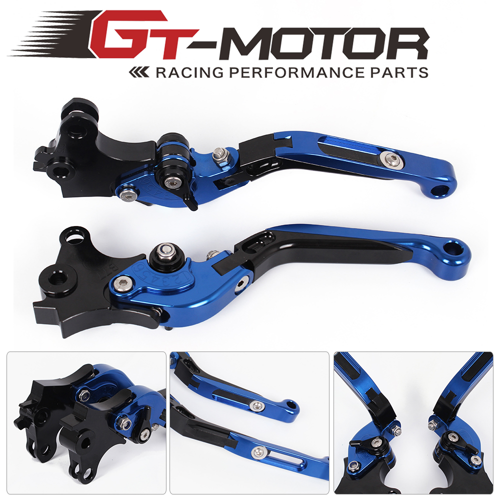 GT Motor -B-77/C-75Adjustable CNC 3D Extendable Folding Brake Clutch Levers For BMW R1200GS Adventure 2014-2017  K1600 GT/GTL 17 adjustable folding extendable brake clutch levers for bmw k1300 s r gt k1600 gt gtl k1200r sport r1200gs adventure 8 colors