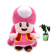 18 CM Anime Super Mario Bros Toadette Peluche Doll Plush Soft Stuffed Baby Toy Christmas Gift