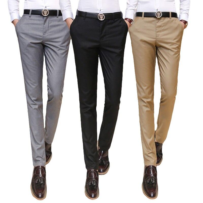 2019 Männer Kleidung Anzug Hose/männlichen High-grade Reine Farbe Slim Fit Business Anzug Hosen/männlich High-end-freizeit Dünne Bein Hosen