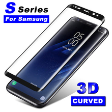 3D Glass On For Samsung Galaxy S7 Edge S6 S 6 7 Edge plus Curve Shield Protectiv