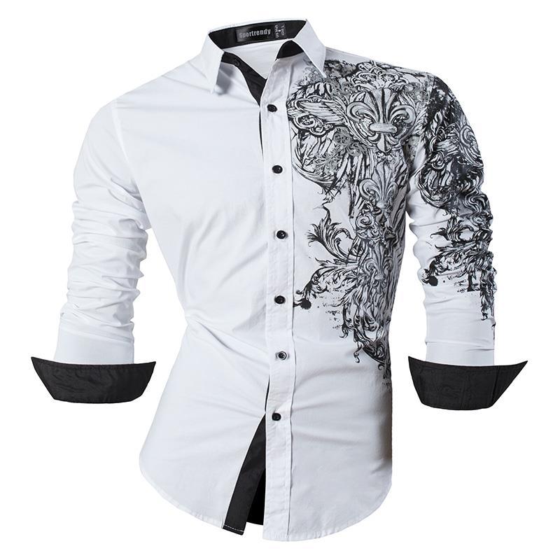 Tootless-Men Cotton Long-Sleeve Leisure Button Plaid Lapel Pockets Tops Shirt