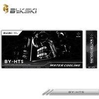 Bykski водяного охлаждения жесткий тубина комплект Процессор Корпус радиатора блок + насос коробка + жесткой трубки + Медь радиатор + вентилято