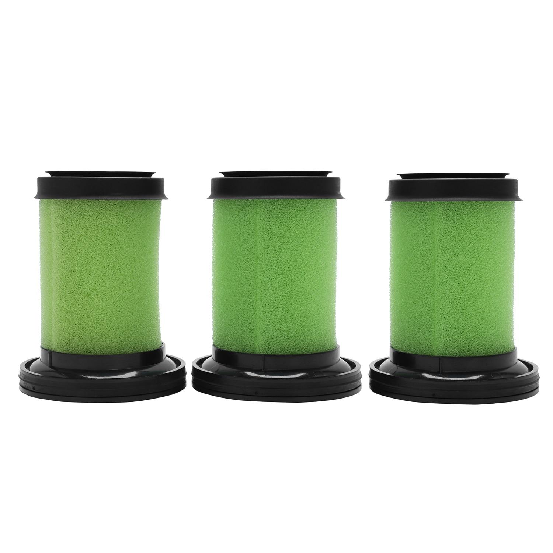 Моющиеся пены фильтры для GTech Multi Аккумуляторный Пылесос (зеленый/черный, 3 шт.)