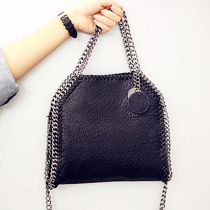 YESIKIMI Women Crossbody Bags Stella 3 Chains Bag Soft Washed PU Leather Black Purse Handbags With Metal Tassel Famous Design stitching chains metallic tassel crossbody bag