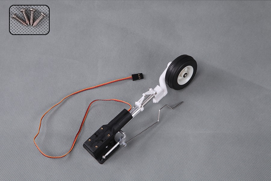 FMS 1400mm / 1.4m T28 V4 Front Landing Gear System with Retract Installed FMSPM113 RC Airplane Model Plane Spare Parts T-28