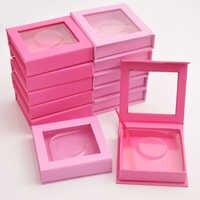 10 pièces en gros carré Faux Cils boîte d'emballage personnalisé votre Logo Faux 3d vison Cils boîtes Faux Cils Cils bande cas vide