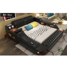 Modern bedroom Furniture Electric Black king size Bed(China)
