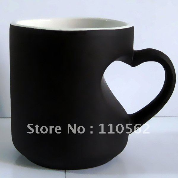 Heart Shaped Handle Personalized Coffee Mug Cup With Color