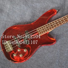 free shipping customized new Big John 4 strings electric bass with organic glass body  F-3127