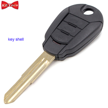 KEYECU 2pcs for Hyundai for Kia Replacement Remote Car Key Shell Case Fob Housing Cover Uncut Blade 3 Button