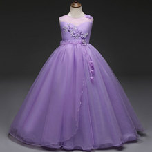 Girls Dress Princesse Prom Gowns Flower Kids Wedding Party Dresses For Costumes Children