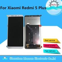 """5.99 """"oryginalna M & Sen dla Xiaomi Redmi 5 Plus rama ekran wyświetlacz LCD + digitizer panel dotykowy dla Redmi 5 Plus zgromadzenie wyświetlacz"""