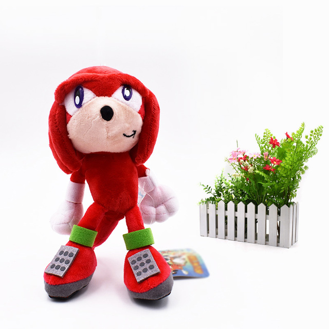 sonic soft doll red sonic cartoon animal stuffed peluche plush toys figure dolls christmas gift for