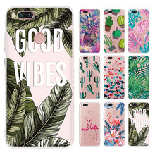 Colorful Pineapple Painted Clear TPU Case for Xiaomi Mi A2 A1 6 Mi8 SE Pocophone F1 6X 5X Green Leaf Print Cover for Redmi 6 Pro(China)