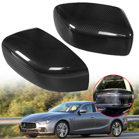 1 Pair New Rearview Rear View Mirror Cover Carbon Fiber Side Wing Mirror Cover Caps For Maserati Ghibli & Quattroporte 2013 2016