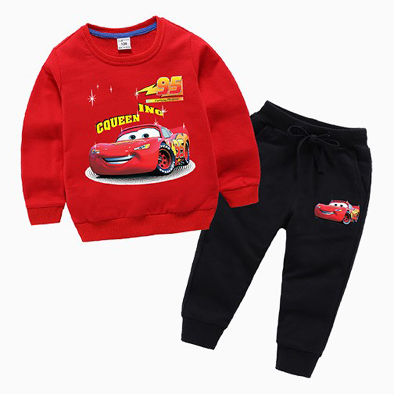 Spring fall baby Cartoon car clothing boys cotton tracksuits shirt+ pants 2pcs kids boy clothes Children Infants set bibicola baby boys summer clothing set children t shirt short pants 2pcs kids clothes boy tracksuits costume for boys child suit