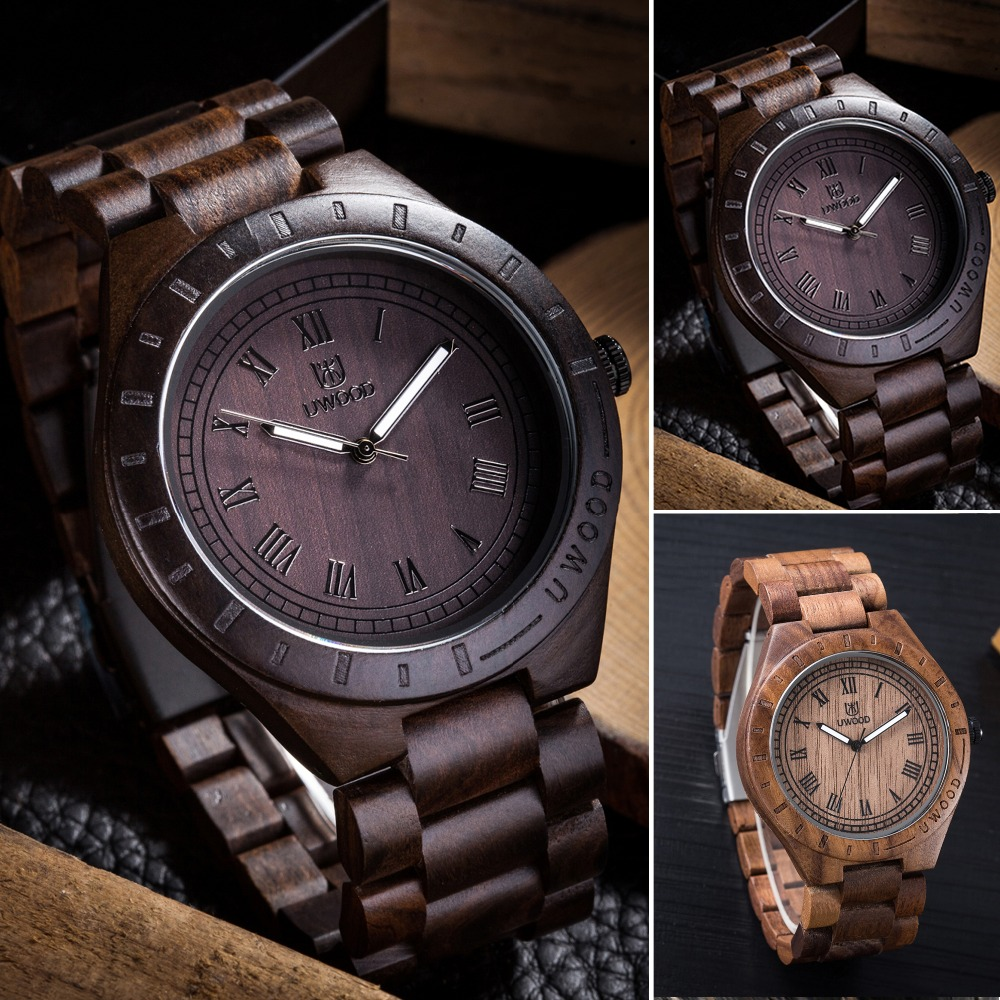 цена на 2016 New Natural Black Brown Walnut Wood Analog Watch Japan MIYOTA Quartz Movement Wooden Watches Dress Wristwatch For Unisex
