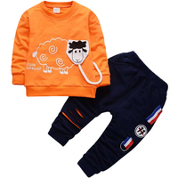 Navy Fashion Boys Clothes Sets Short Sleeve T Shirt Sports Pants Outfit Sailor Kids Boys Clothing