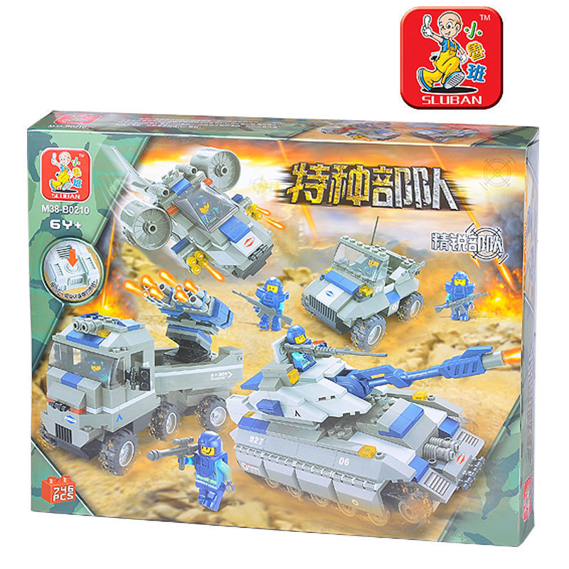 Sluban model building kits compatible with lego city army 1081 3D blocks Educational model & building toys hobbies for children