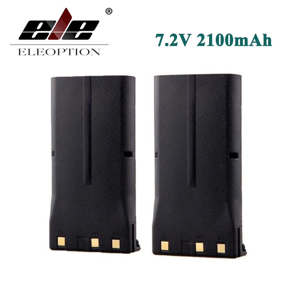ELEOPTION 2PCS KNB 16 7 2V 2100mAh Battery for KENWOOD KNB 17A KNB 21 KNB 21N
