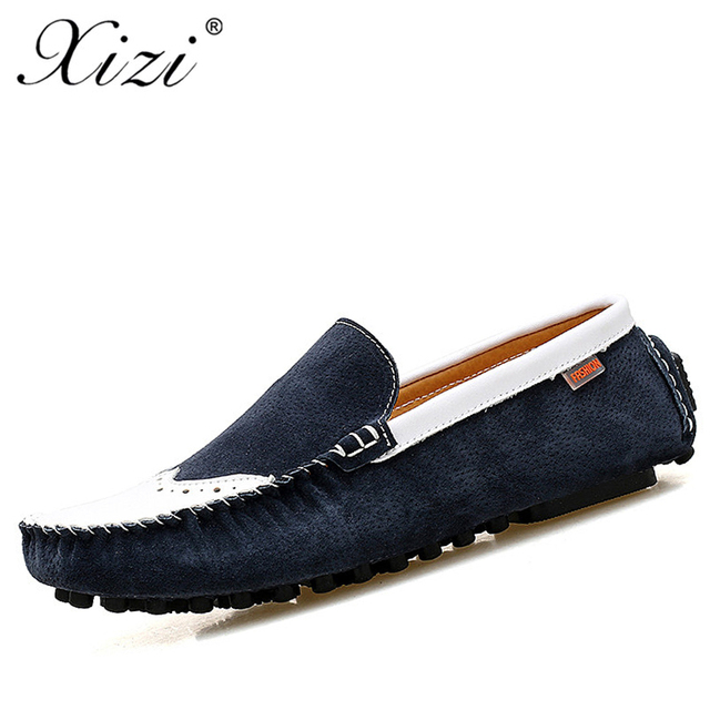 XIZI New Brand men Fashion Summer Style Soft Moccasins Male Casual Loafers  High Quality Leather Shoes Men Flats Driving Shoes 9c4dd9f055a3