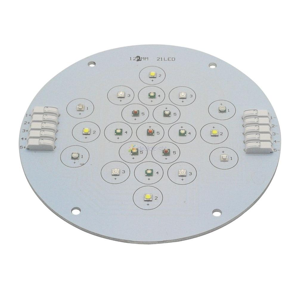 5 canaux 21 Leds Cree + Epileds Led Corail Émetteur Lampe Lumière Pour bricolage Ecotch Marine XR30W XR15W G4 Pro Réservoir D'aquarium lumière Led