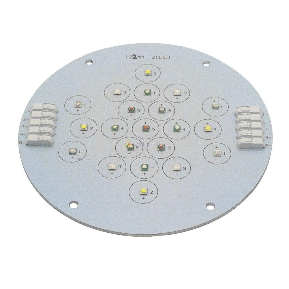 5 canaux 21leds Cree + épileds Led corail émetteur lampe lumière pour bricolage Ecotch Marine XR30W XR15W G4 Pro Aquarium réservoir lumière Led