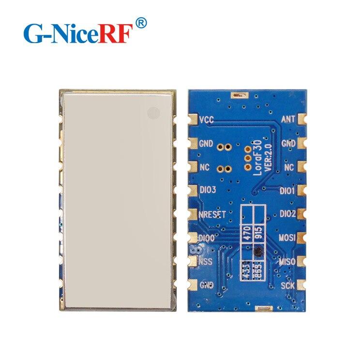 Free Shipping 2PCS Lora1276F30 1W 5-6km High Sensitivity -139 DBm 868MHz 915MHz SX1276 Wireless RF Module