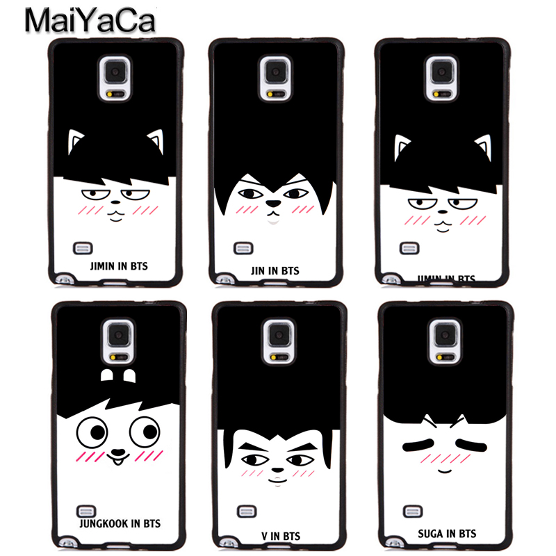 MaiYaCa KPOP BTS Bangtan Boys Full Protective Phone Cases For Samsung Galaxy S6 S7 edge Plus S8 S9 plus Note 4 5 8 Cover Shell
