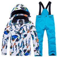 Tringa 3Y~16Y Teenage Winter Children Waterproof Ski Suit Kids Jacket Coat Parka Snowsuit Girls Outdoor Clothes Boy Clothing Set