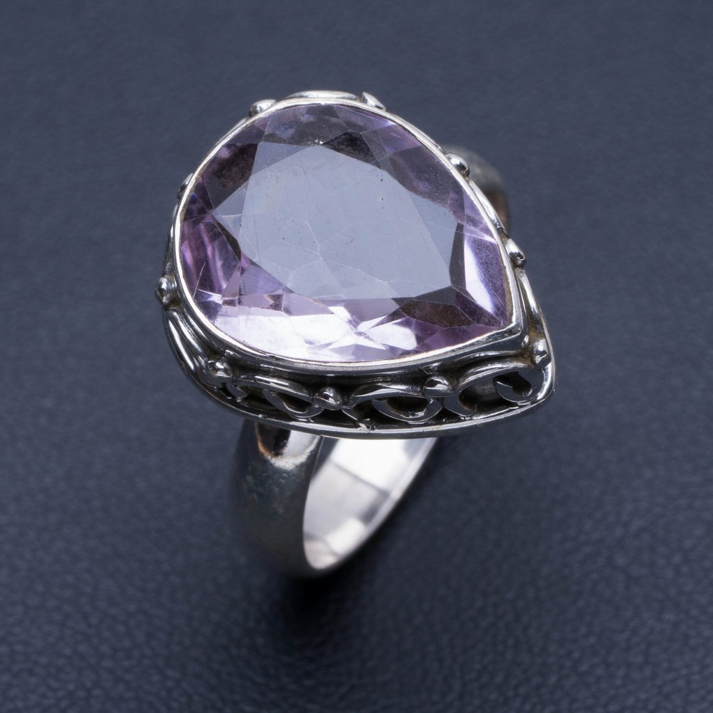 Natural Amethyst 925 Sterling Silver Ring, US Size 8.75 Q2148Natural Amethyst 925 Sterling Silver Ring, US Size 8.75 Q2148