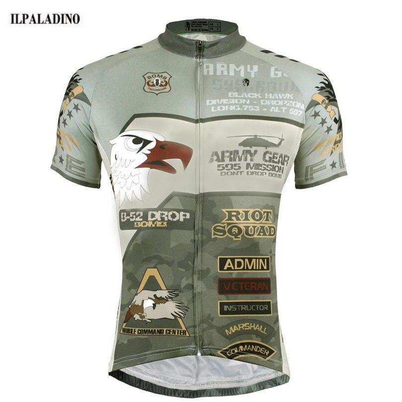 Prix pour Ilpaladino mens vélo clothing ropa ciclismo court cyclisme manches jersey de bicyclette de vélo top armée grear