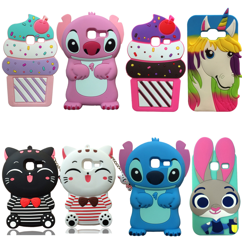 For Samsung Galaxy J1 mini J105 3D Cute Cartoon Rabbit Cat ice Cream Soft Silicone Phone Case Back Cover Skin Shell Dropproof