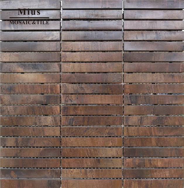 Strip Bronze Backsplash Tiles A6yg73